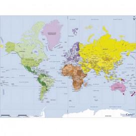 Puzzle d'art 50 grosses pièces Carte du monde carte