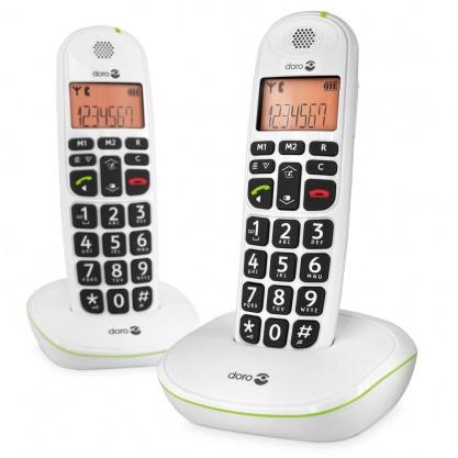 Doro téléphones fixes Phone Easy 100w duo sur socles blancs