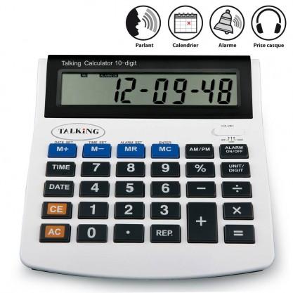 Calculatrice parlante à grands chiffres