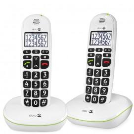 Doro téléphones fixes Phone Easy 110w duo en blanc