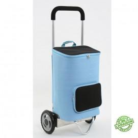 Chariot de courses assistance électrique e-trolley vue de 3/4 face