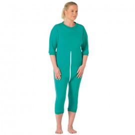Grenouillère Femme près du corps courte vert