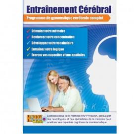 Jeu d'entraînement cérébral Happyneuron - Jaquette CDRom Recto