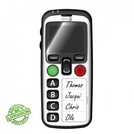 Doro téléphone mobile Secure 580iup blanc de face