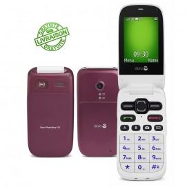 Doro téléphone mobile Phone Easy 621 bordeaux / blanc
