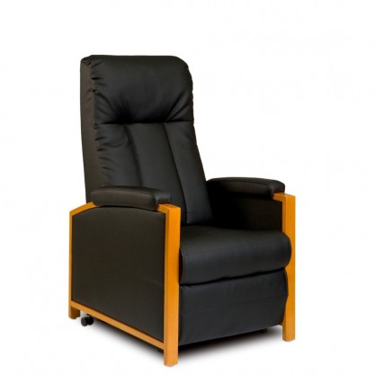 Halifax fauteuil releveur et relaxation 2 moteurs fermé noir avec manchettes
