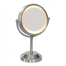 Miroir lumineux sur pied chromé x1 et x3