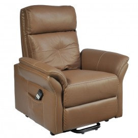 Fauteuil Diamant cuir capuccino 2 moteurs assis