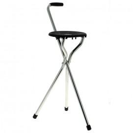 Canne siège pliante à 3 pieds jusqu'à 125kg ouverte en siège