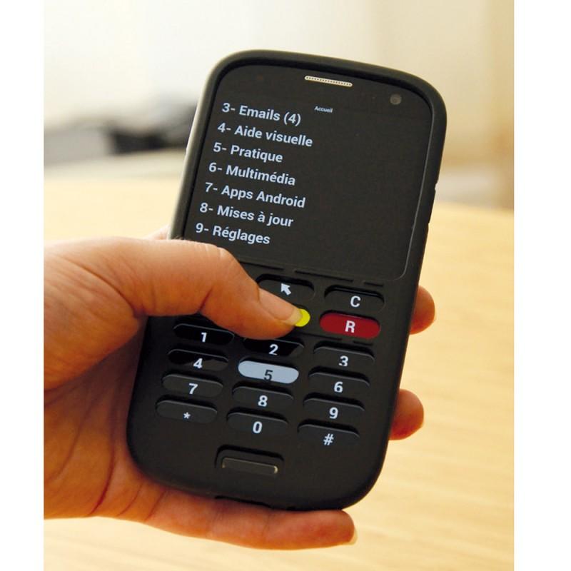 Smartphone malvoyant portable pour aveugle - Accessoires pour malvoyants ...