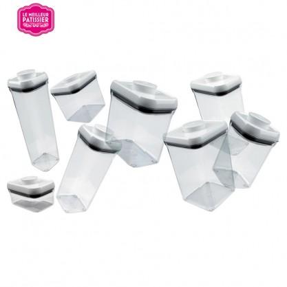 Boîtes Pop transparentes - vue d'ensemble, plusieurs modèles
