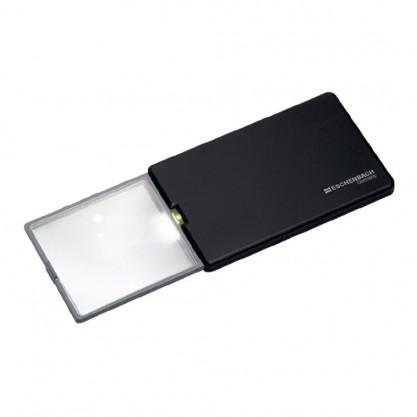 Loupe carte de crédit Easy pocket noire ouverte