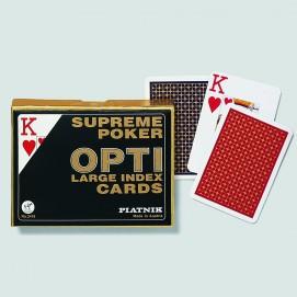 Coffret de 2 jeux de cartes très lisibles - Opti poker