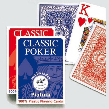 Jeu de cartes plastique très lisibles - Classic poker
