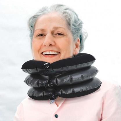 Collier cervical de traction gonflable en situation