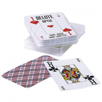 1 jeu de cartes très lisibles - Belote Optic