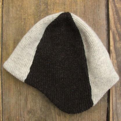 Bonnet bicolore type péruvien en laine de la Bergerie Nationale