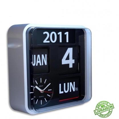 Horloge calendrier grands chiffres Orium