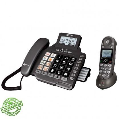 Téléphone répondeur + combiné Combidect 355