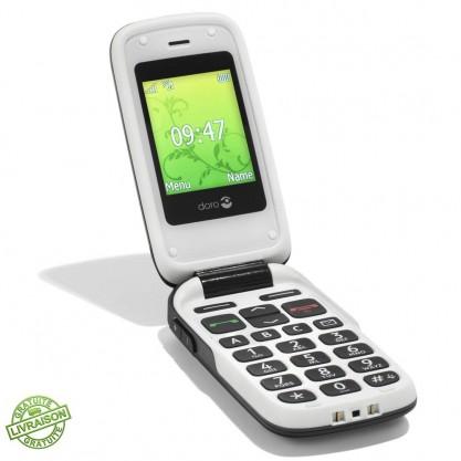 Téléphone mobile Phone Easy 610 Doro seul ouvert posé