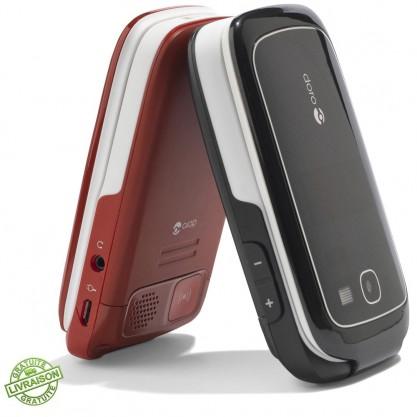 Téléphones mobiles Phone Easy 615 Doro Noir et Rouge