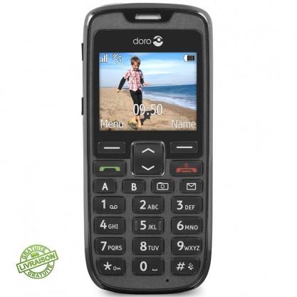 Doro téléphone Phone Easy 515 noir vu de face