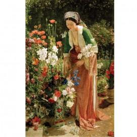 Puzzle d'art 200 grosses pièces Dans le jardin du Bey tableau