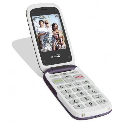 Doro téléphone mobile Phone Easy 612 aubergine ouvert