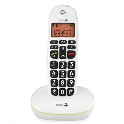 Doro téléphone fixe sans fil Phone Easy 100w blanc sur socle