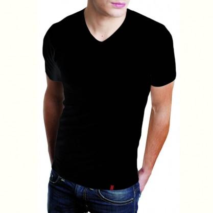 Tee-shirt homme manches courtes noir bio-céramique