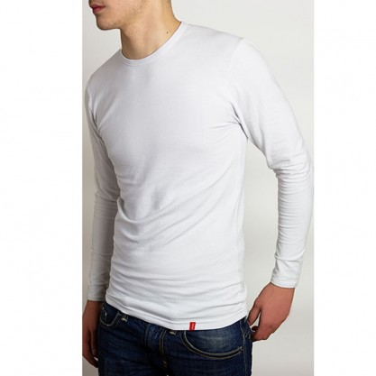 Tee-shirt homme manches longues blanc bio-céramique