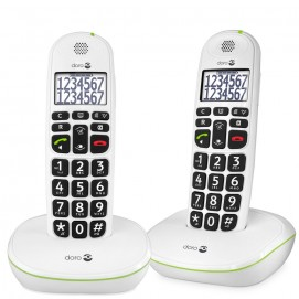 Doro téléphones fixes Phone Easy 110w duo en blanc