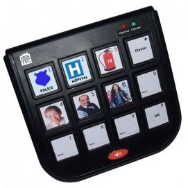 Boîtier téléphone 10 touches photos + mains libres