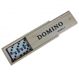 Boîte dominos double-six épais