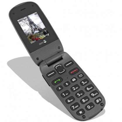 Doro téléphone mobile Phone Easy 607 noir ouvert posé