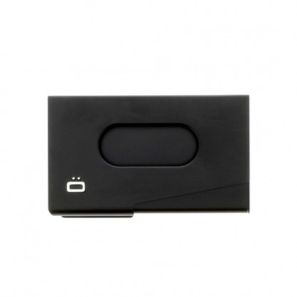 Porte cartes de visite aluminium Ögon Designs noir dessus