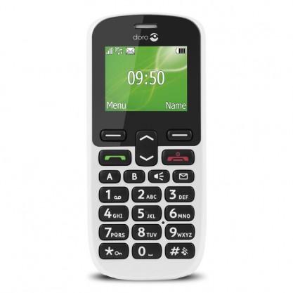 Doro téléphone mobile Phone Easy 508 blanc de face