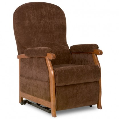 Country fauteuil releveur et relaxation 2 moteurs assis longlife soft chocolat