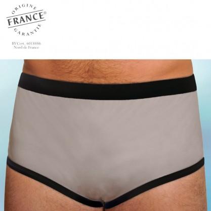 Slip homme incontinence intraversable gris