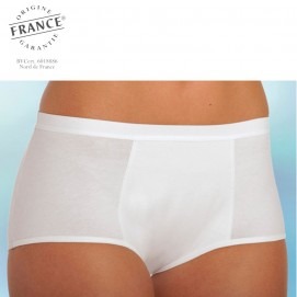 Shorty incontinence urinaire femme blanc