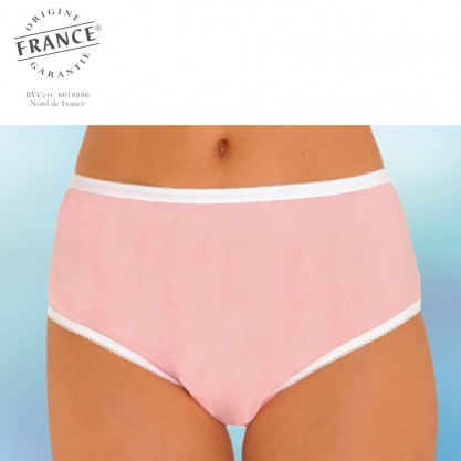 Culotte incontinence 100% intraversable rose