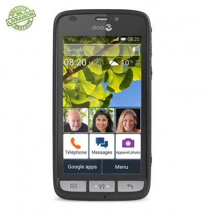 Doro smartphone Liberto 820 noir argent de face