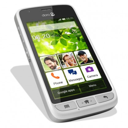 Doro smartphone Liberto 820 Mini Blanc argent face