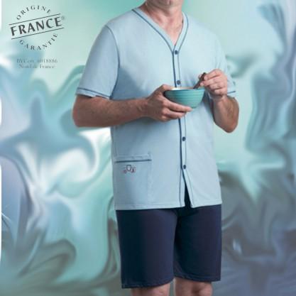 Pyjama court anti-microbien ouverture devant