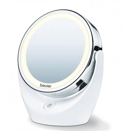 Miroir cosmétique éclairé grossissant Beurer pied blanc