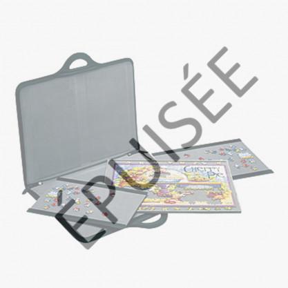 malette porte-puzzle rigide et non-glissante