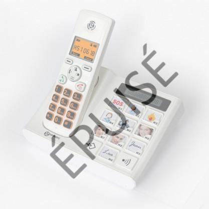 Téléphone sans fil dect amplifié à touches personnalisables