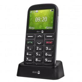 Doro 1360 téléphone mobile noir dans socle