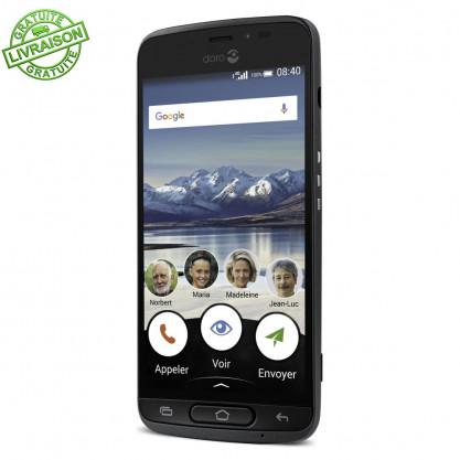 Doro 8040 Smartphone simplifié noir de trois quarts