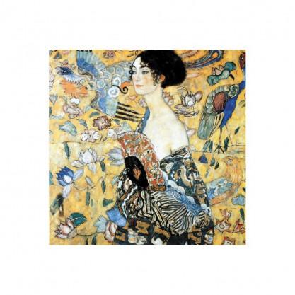 """Puzzle """"La dame à l'éventail"""" Klimt 200 pièces"""